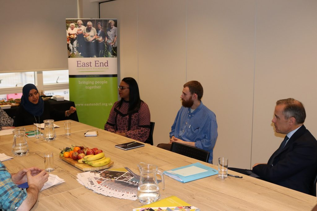 Mark Carney, Governor of the Bank of England meets with Community Money Mentors