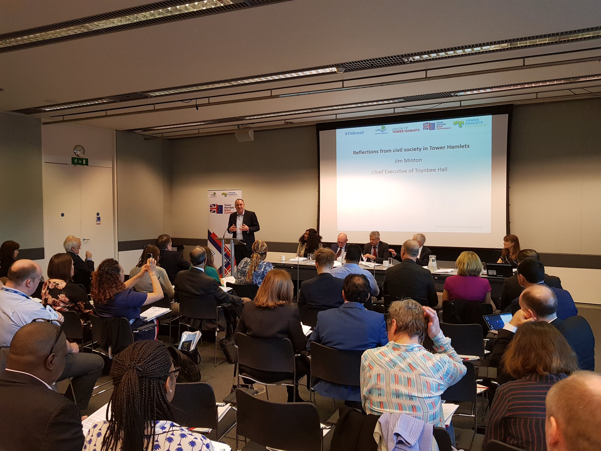 Jim Minton speaks at the launch of the Tower Hamlets Brexit Commission Impact Report launch
