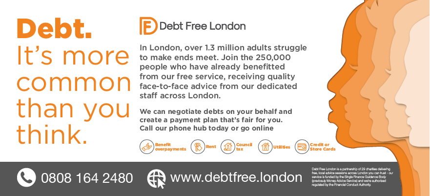 Debt Free London Bus Ad
