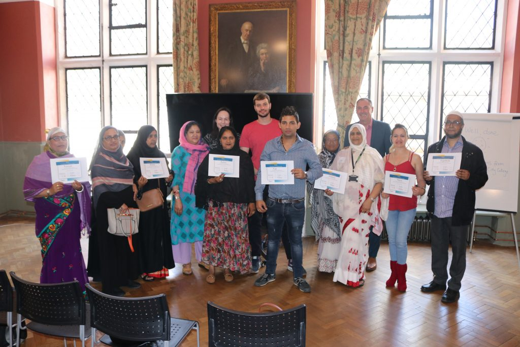 Our last ESOL group at their graduation ceremony