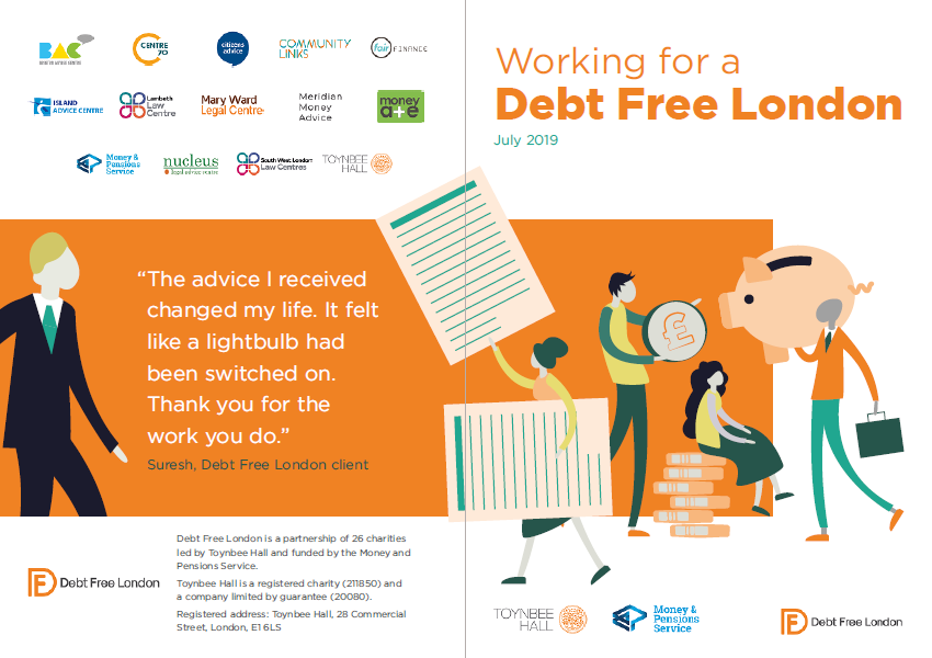 Working for a Debt Free London Report Cover - News story
