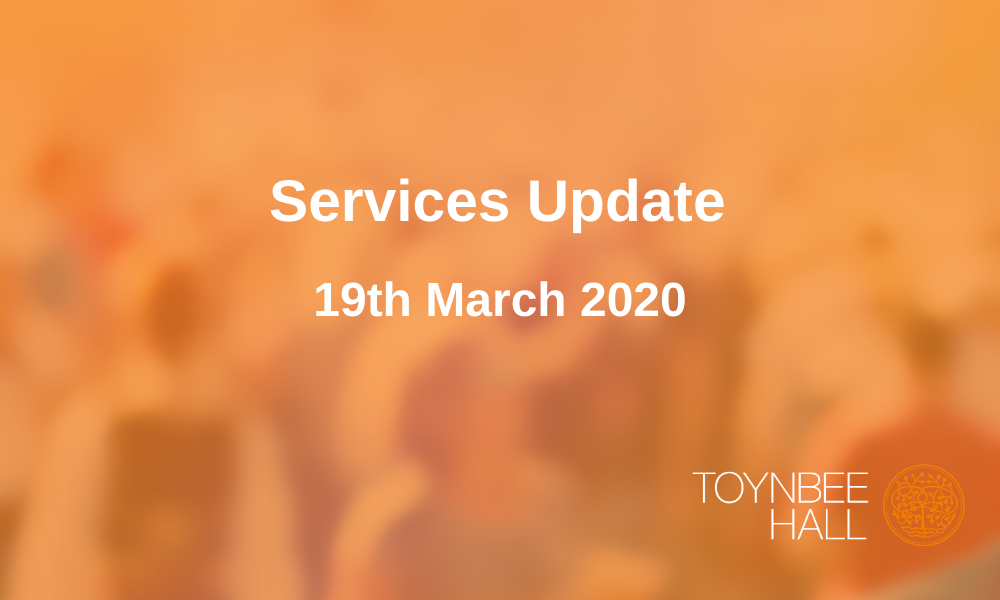 Services Update 19th March 2020