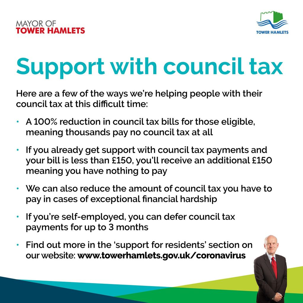 Support with Council Tax - London Borough of Tower Hamlets