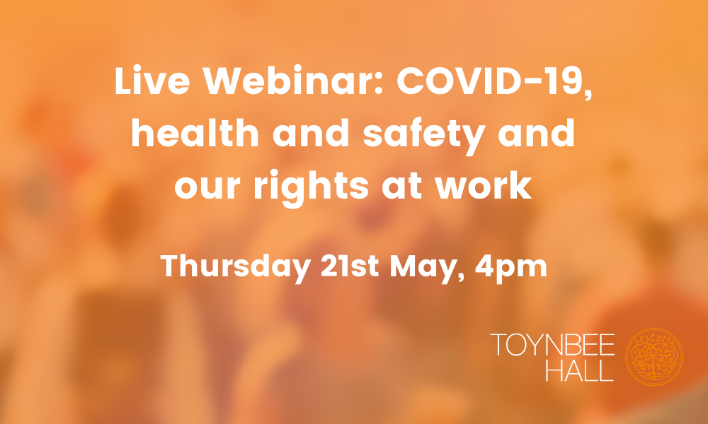 Live Webinar: COVID-19, Health and safety and our rights at work