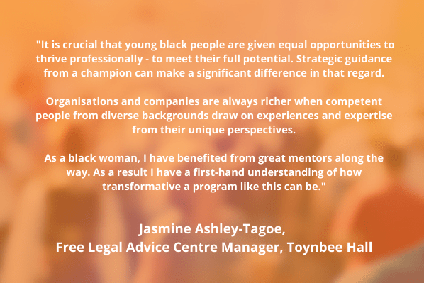 Quote from Jasmine Ashley-Tagoe, Free Legal Advice Centre Manager