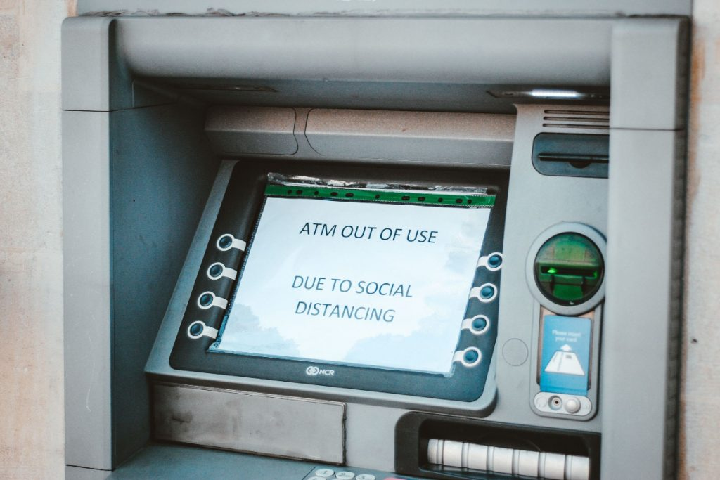 ATM out of service due to social distancing