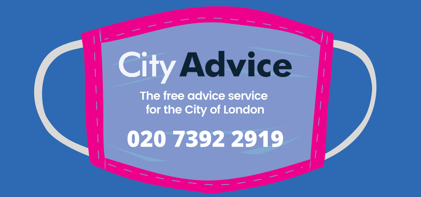 City Advice poster - Mask graphic