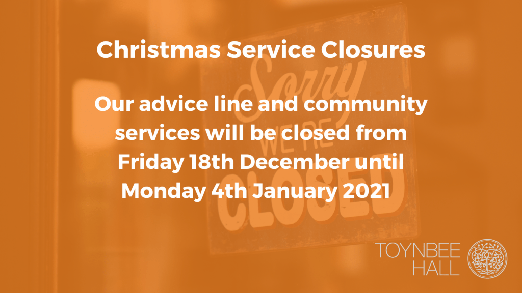 Christmas service closures and how to get support