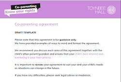 Co-parenting agreement draft template
