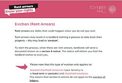 Rent arrears eviction checklist
