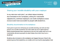 Sharing your invisible disability with your employer