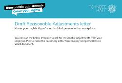 Draft reasonable adjustment letter