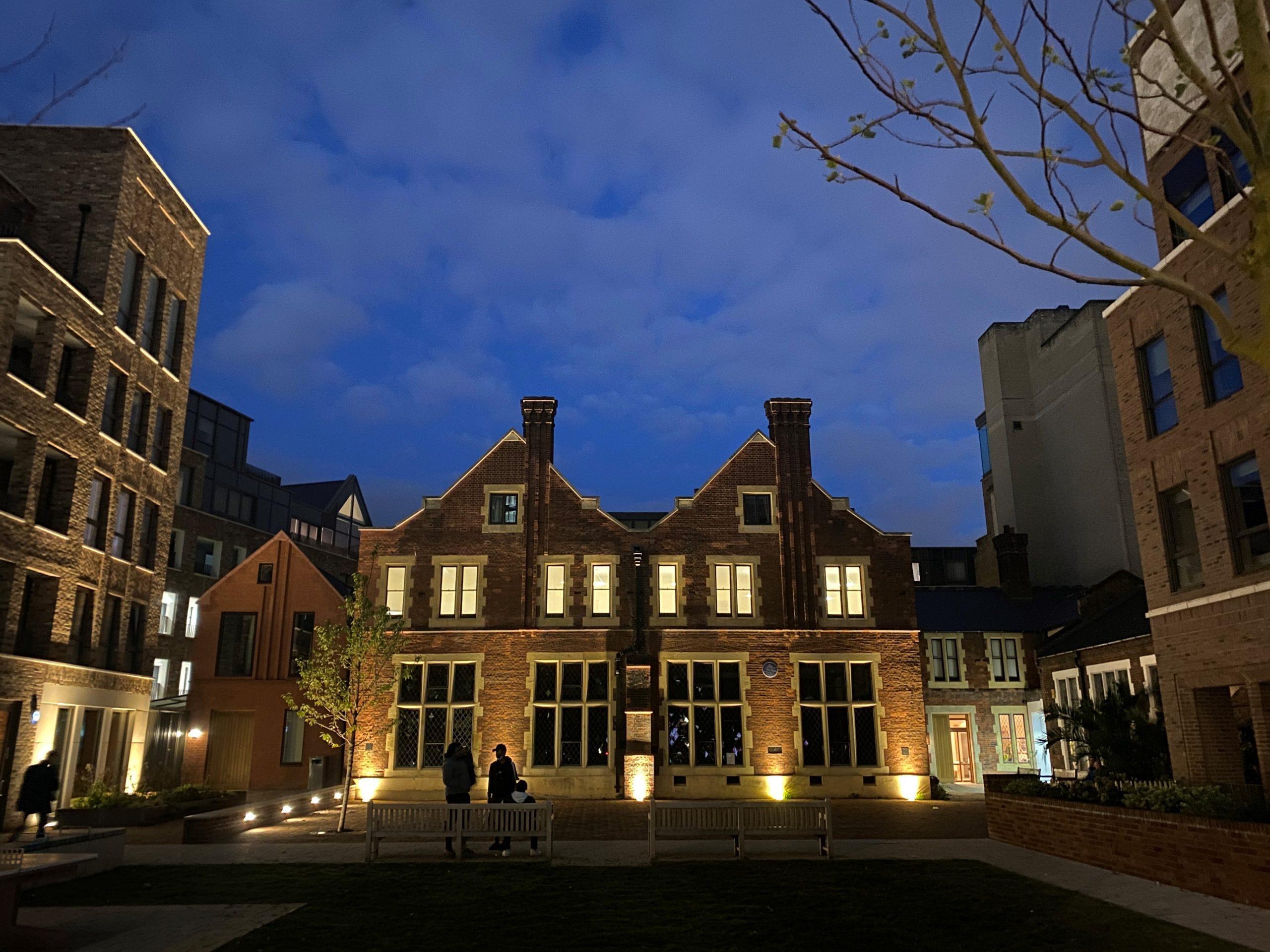 Toynbee Hall at night